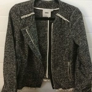 ASOS Black and Cream Tweed Jacket